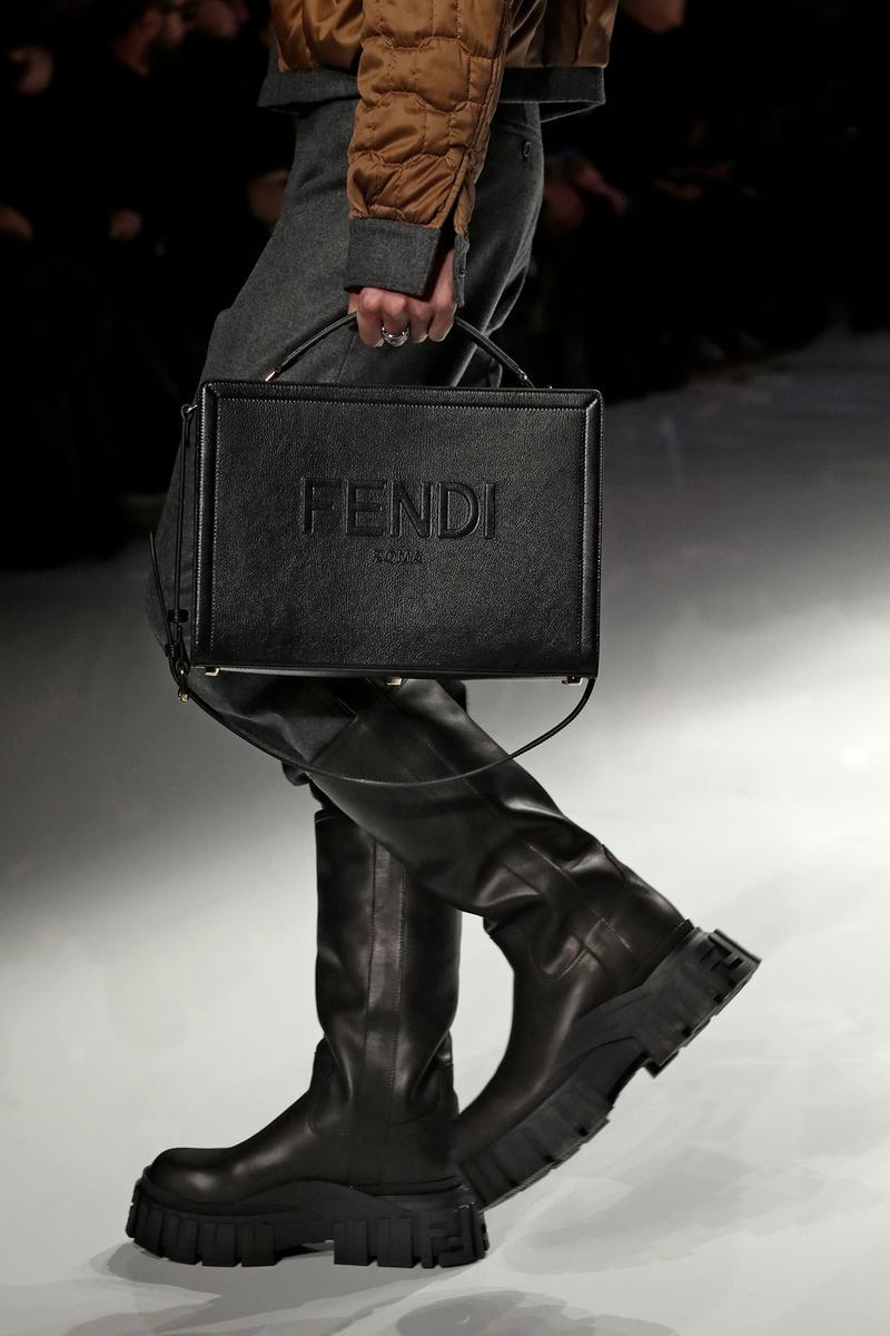 Fendi Fall/Winter 2020 Collection Logo Crossbody Black