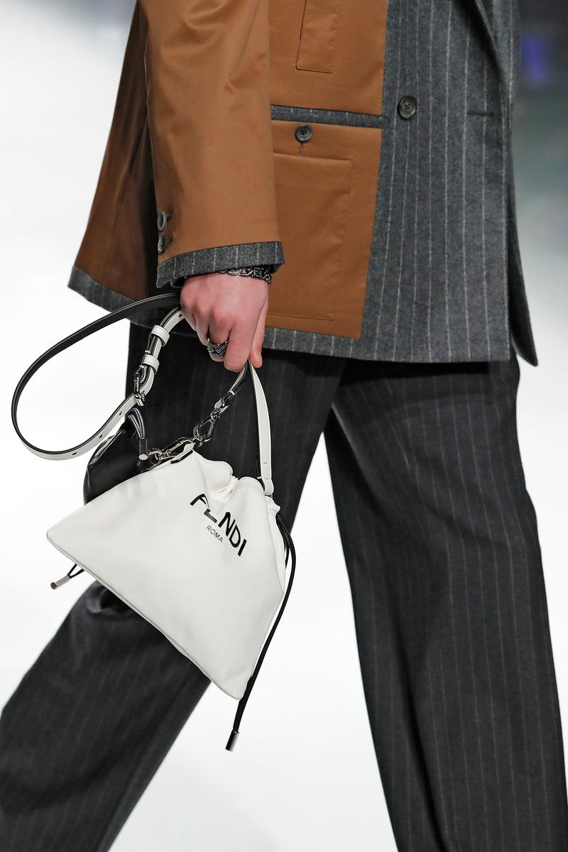 Fendi Fall/Winter 2020 Collection Drawstring White