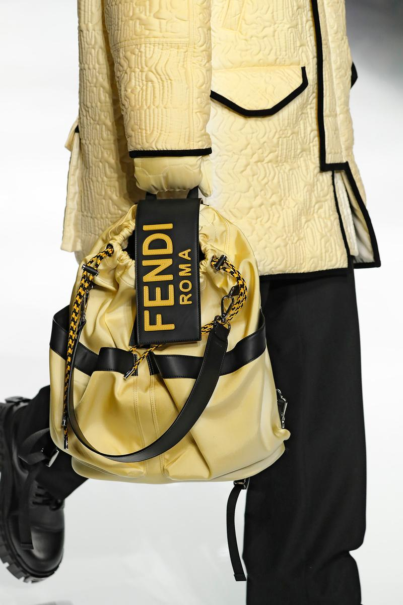 Fendi Fall/Winter 2020 Collection Drawstring Yellow