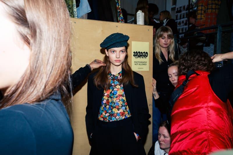 ganni copenhagen fashion week cphfw fall winter backstage runway ditte nicolaj reffstrup