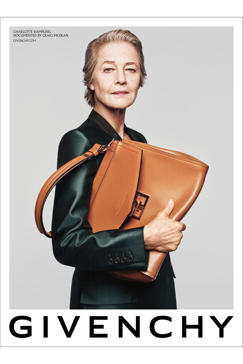 charlotte rampling marc jacobs givenchy SS20 campaign collection instagram new york paris clare waight keller craig mcdean acting