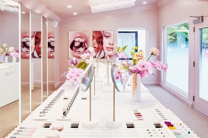 Glossier Pop-Up Store Inside Interior