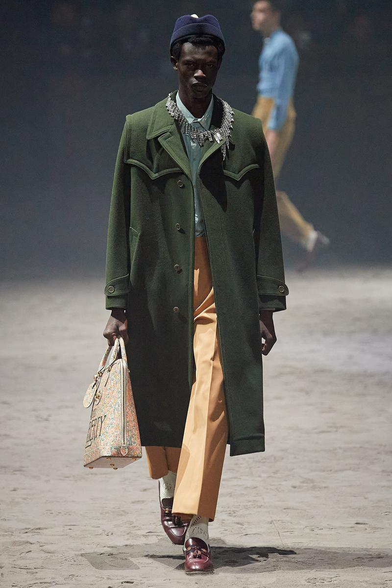 Gucci Fall/Winter 2020 Men's Collection Coat Green