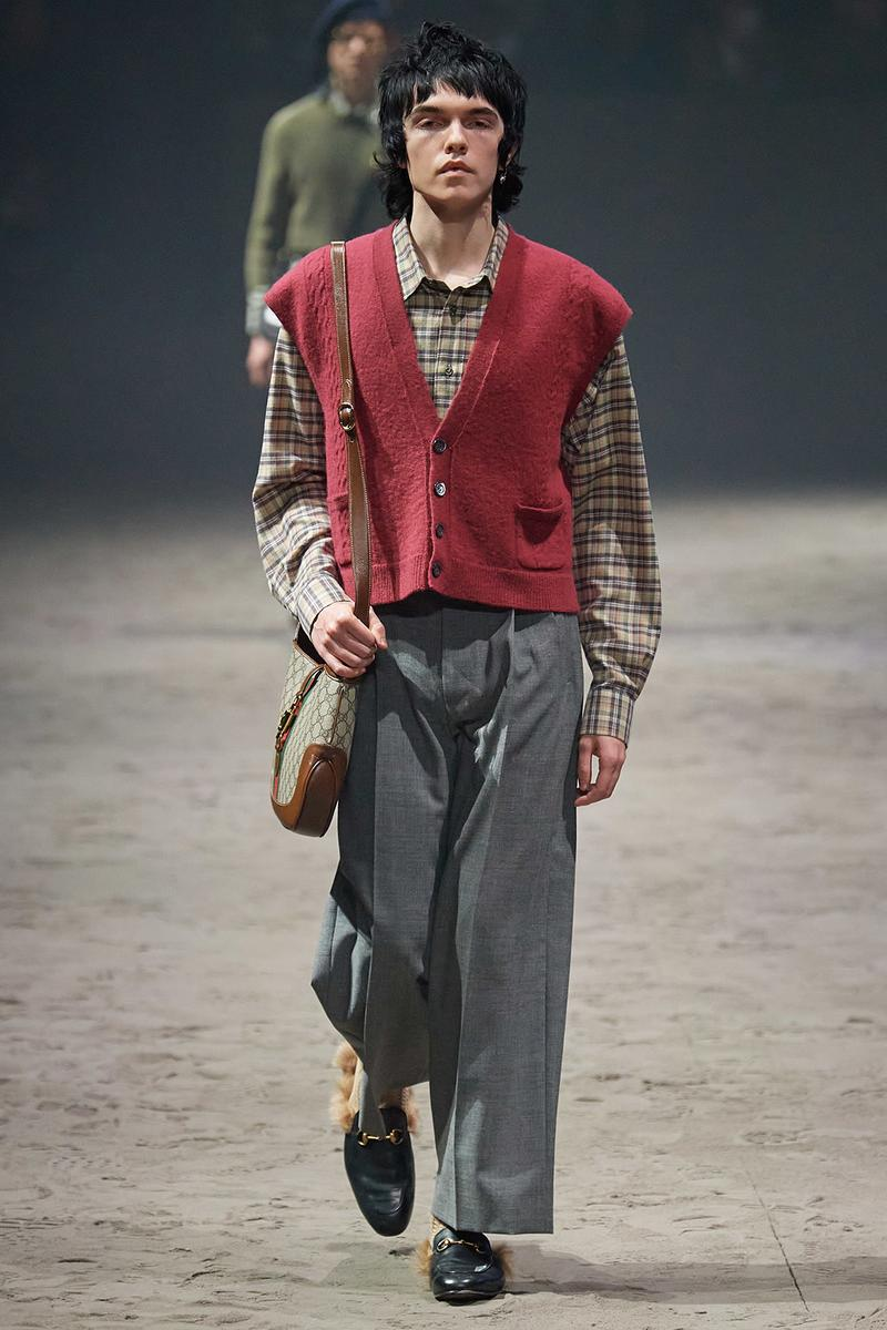 Gucci Fall/Winter 2020 Men's Collection Sweater Vest Red