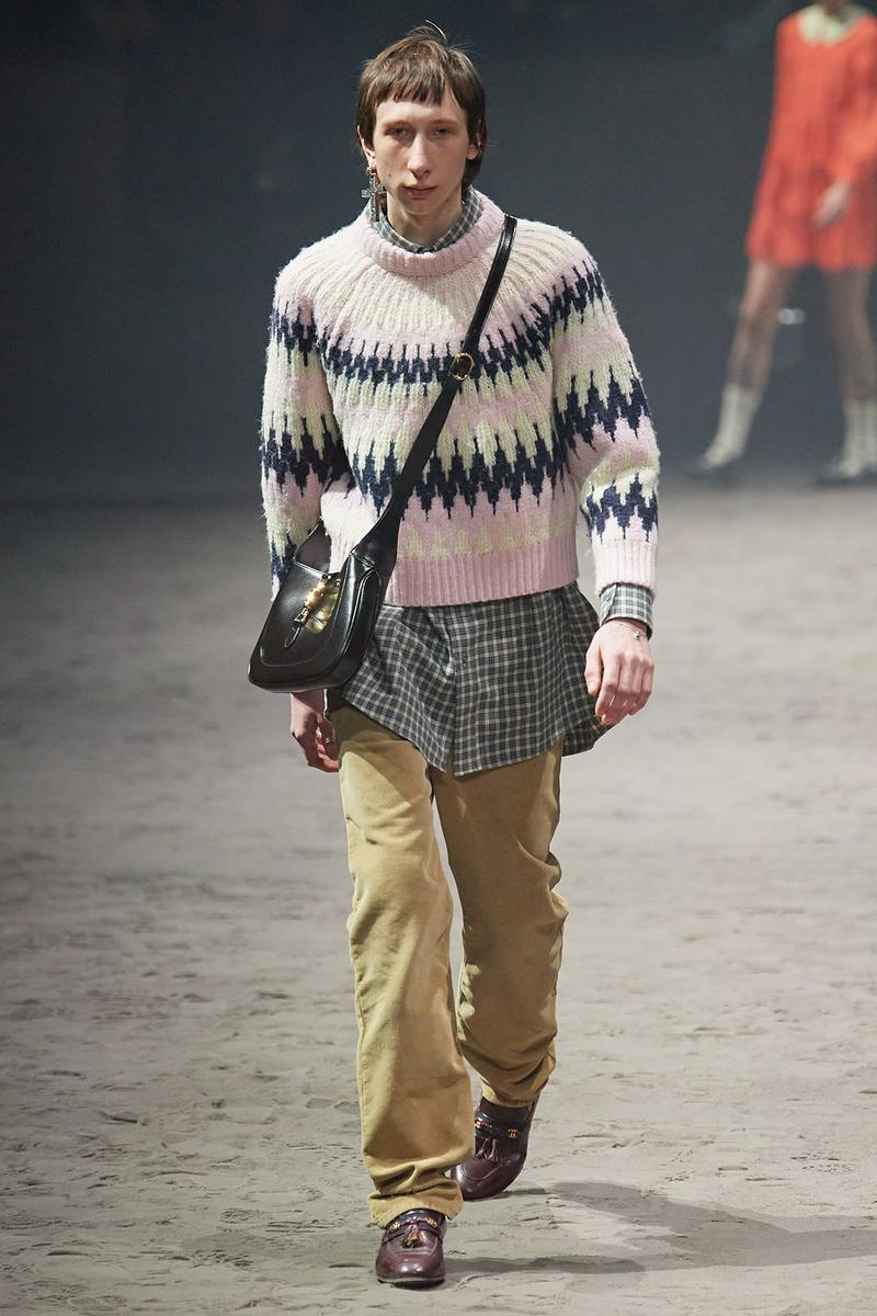 Gucci Fall/Winter 2020 Men's Collection Fair Isle Sweater