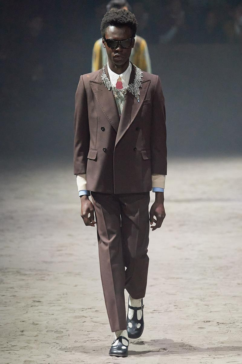 Gucci Fall/Winter 2020 Men's Collection Suit Brown