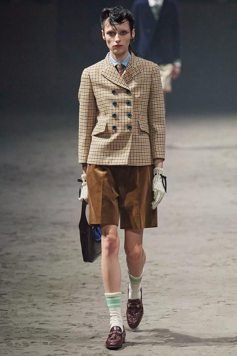 Gucci Fall/Winter 2020 Men's Collection Double Breasted Jacket Shorts