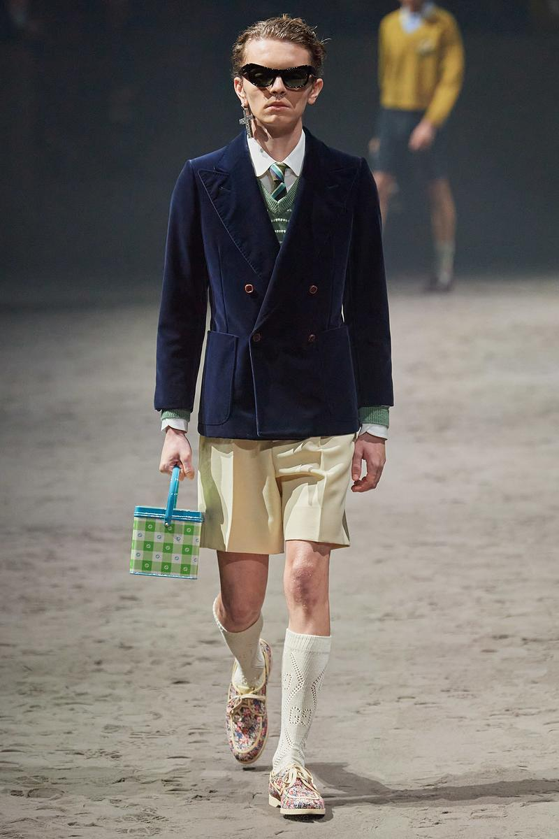 Gucci Fall/Winter 2020 Men's Collection Blue Jacket Shorts