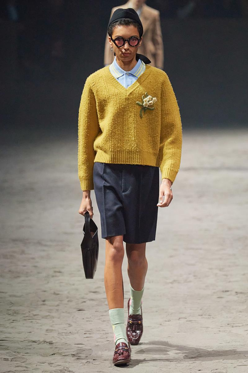 Gucci Fall/Winter 2020 Men's Collection Sweater Mustard