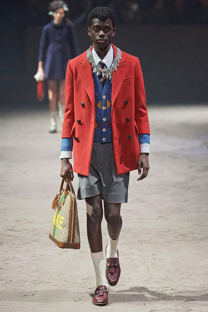 Gucci Fall/Winter 2020 Men's Collection Coat Red