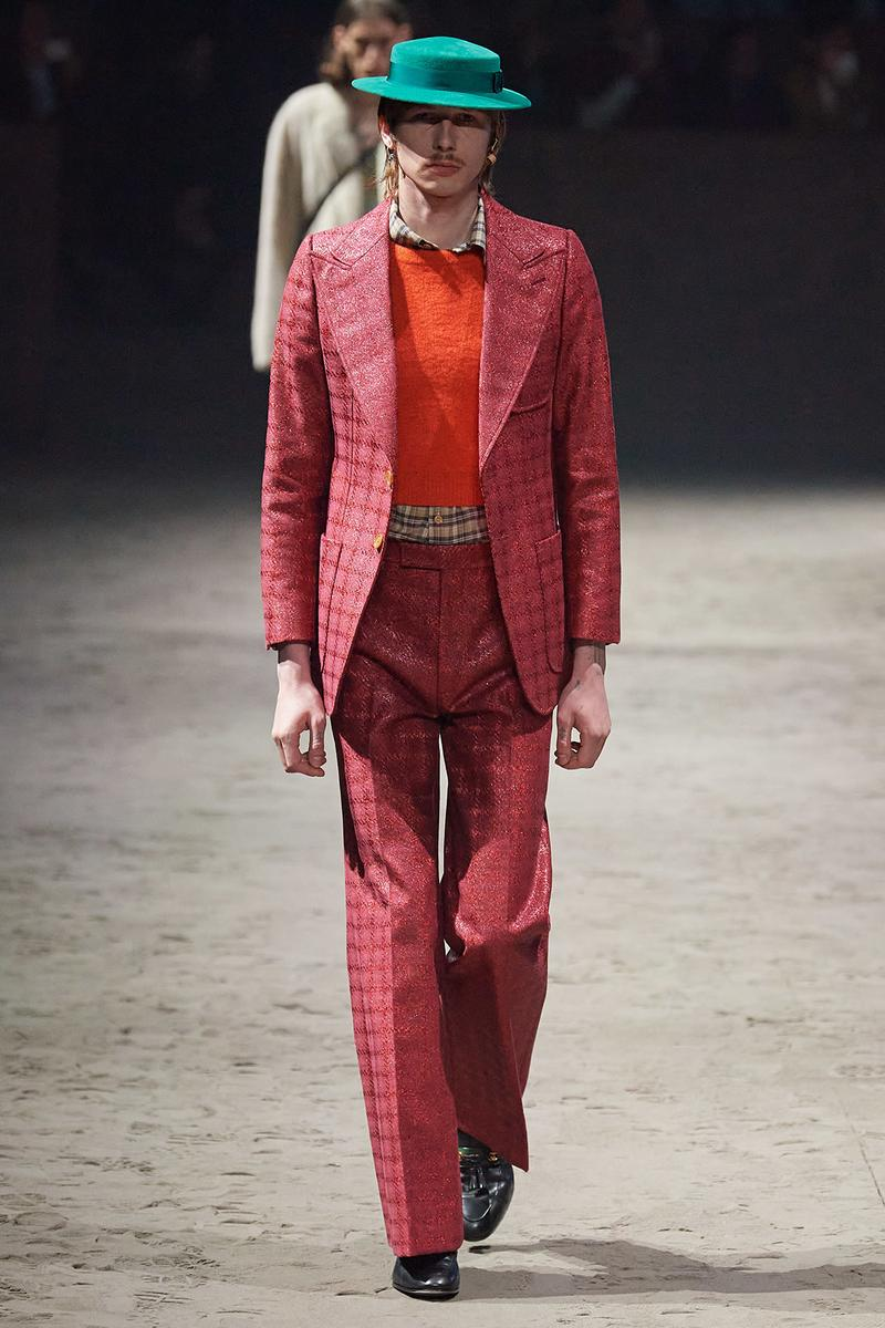 Gucci Fall/Winter 2020 Men's Collection Suit Red Plaid
