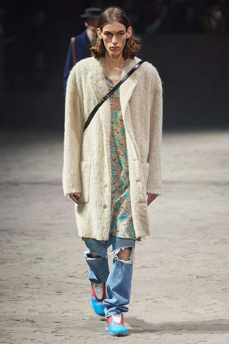 Gucci Fall/Winter 2020 Men's Collection Cardigan White