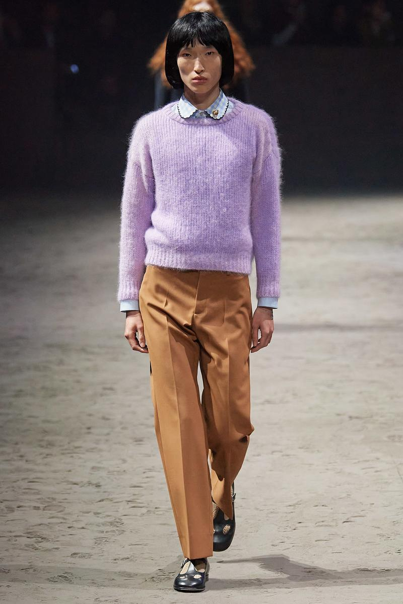 Gucci Fall/Winter 2020 Men's Collection Sweater Purple