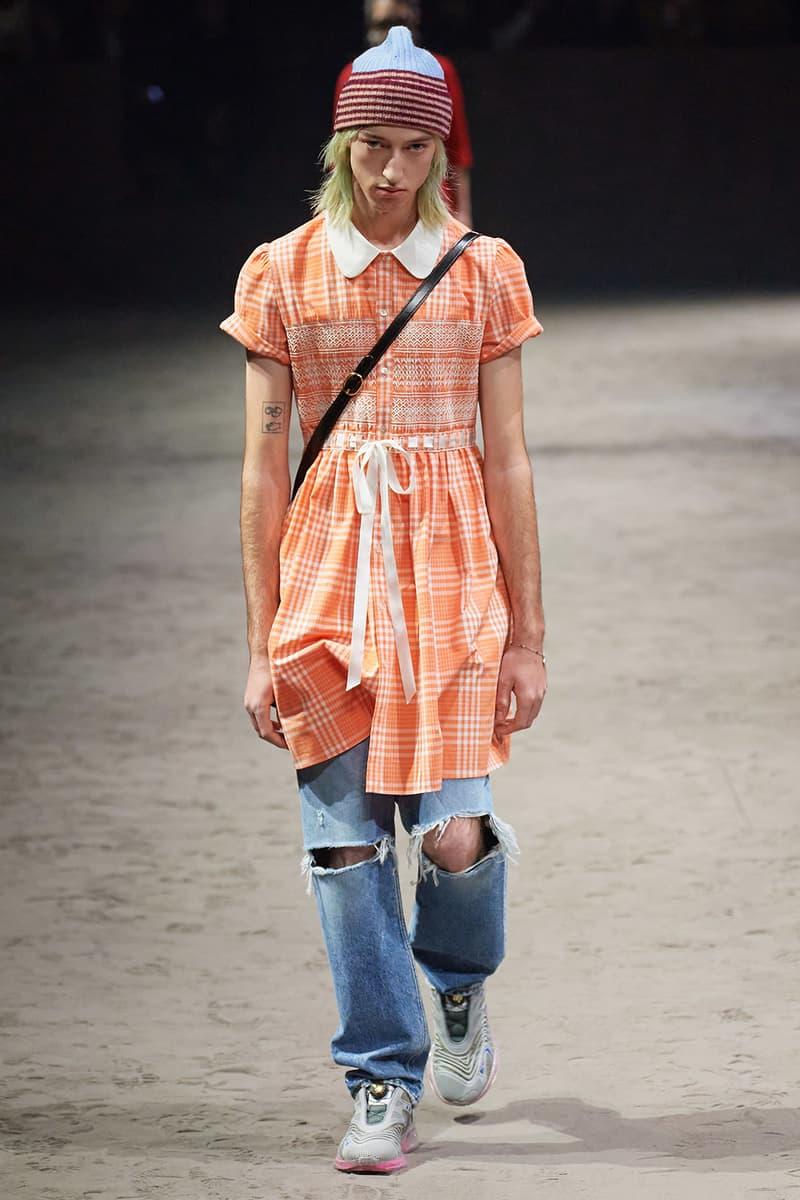 Gucci Fall/Winter 2020 Men's Collection Dress Orange