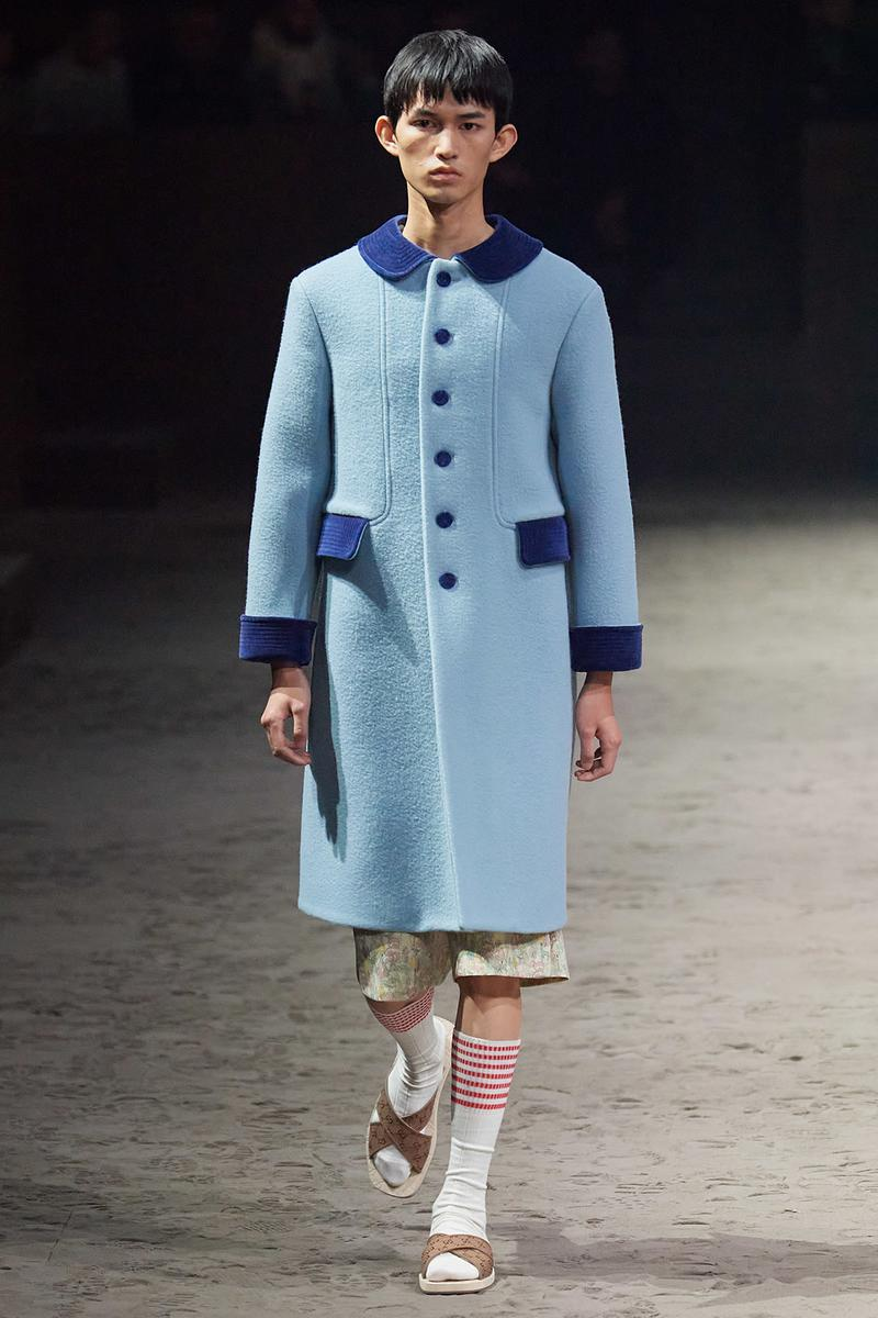 Gucci Fall/Winter 2020 Men's Collection Coat Blue