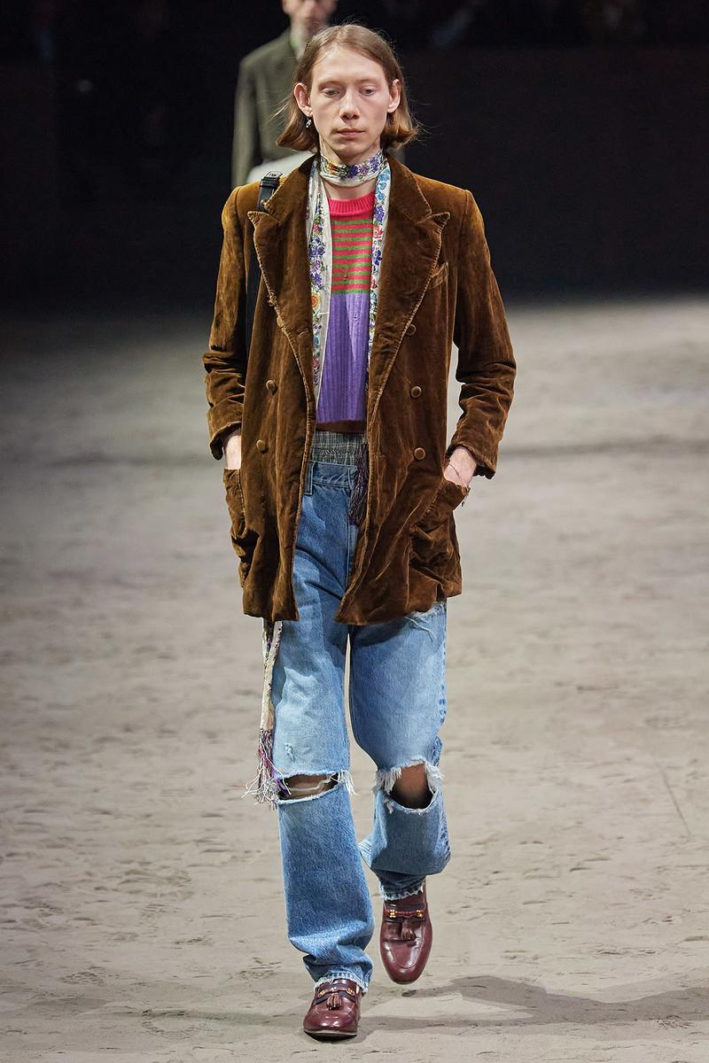 Gucci Fall/Winter 2020 Men's Collection Jeans Ripped