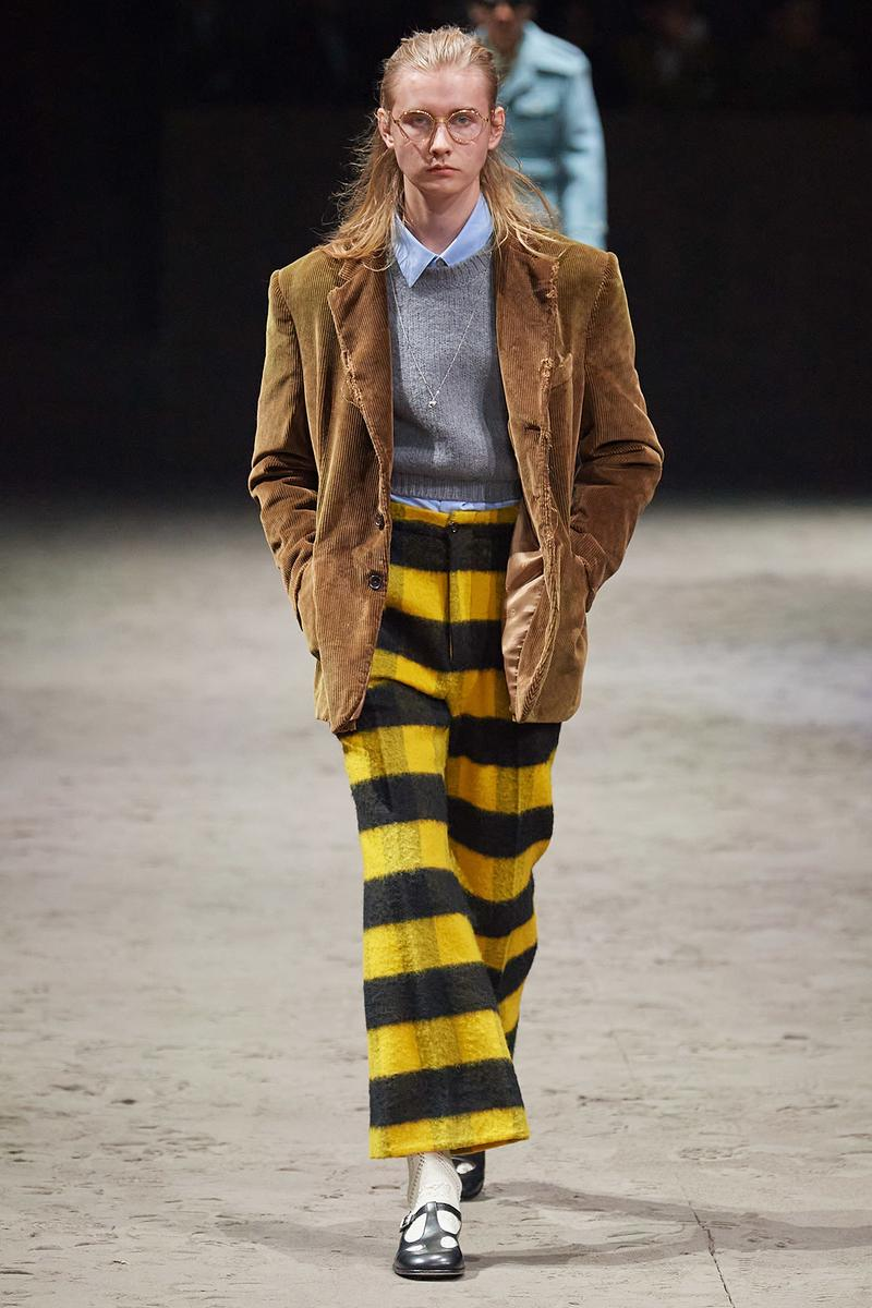 Gucci Fall/Winter 2020 Men's Collection Pants Striped Yellow
