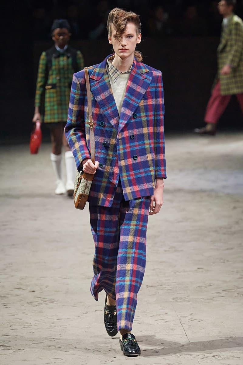 Gucci Fall/Winter 2020 Men's Collection Suit Purple Plaid