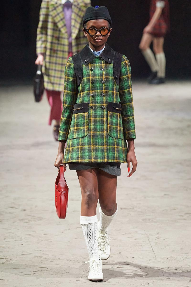 Gucci Fall/Winter 2020 Men's Collection Jacket Green Plaid