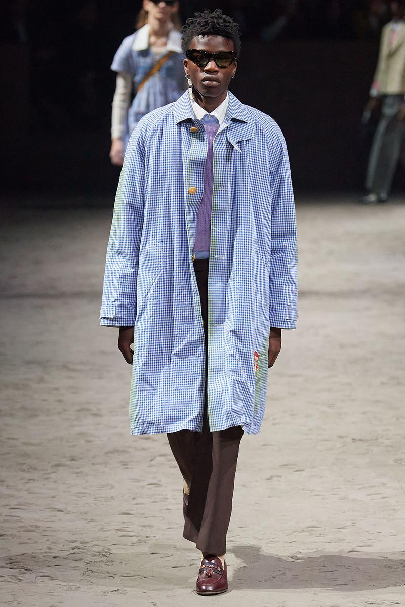 Gucci Fall/Winter 2020 Men's Collection Smock Blue
