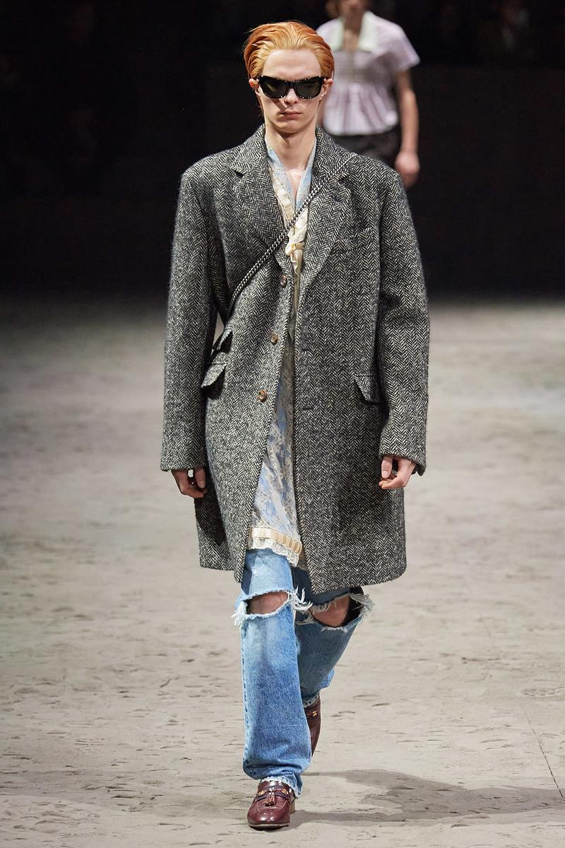 Gucci Fall/Winter 2020 Men's Collection Coat Gray