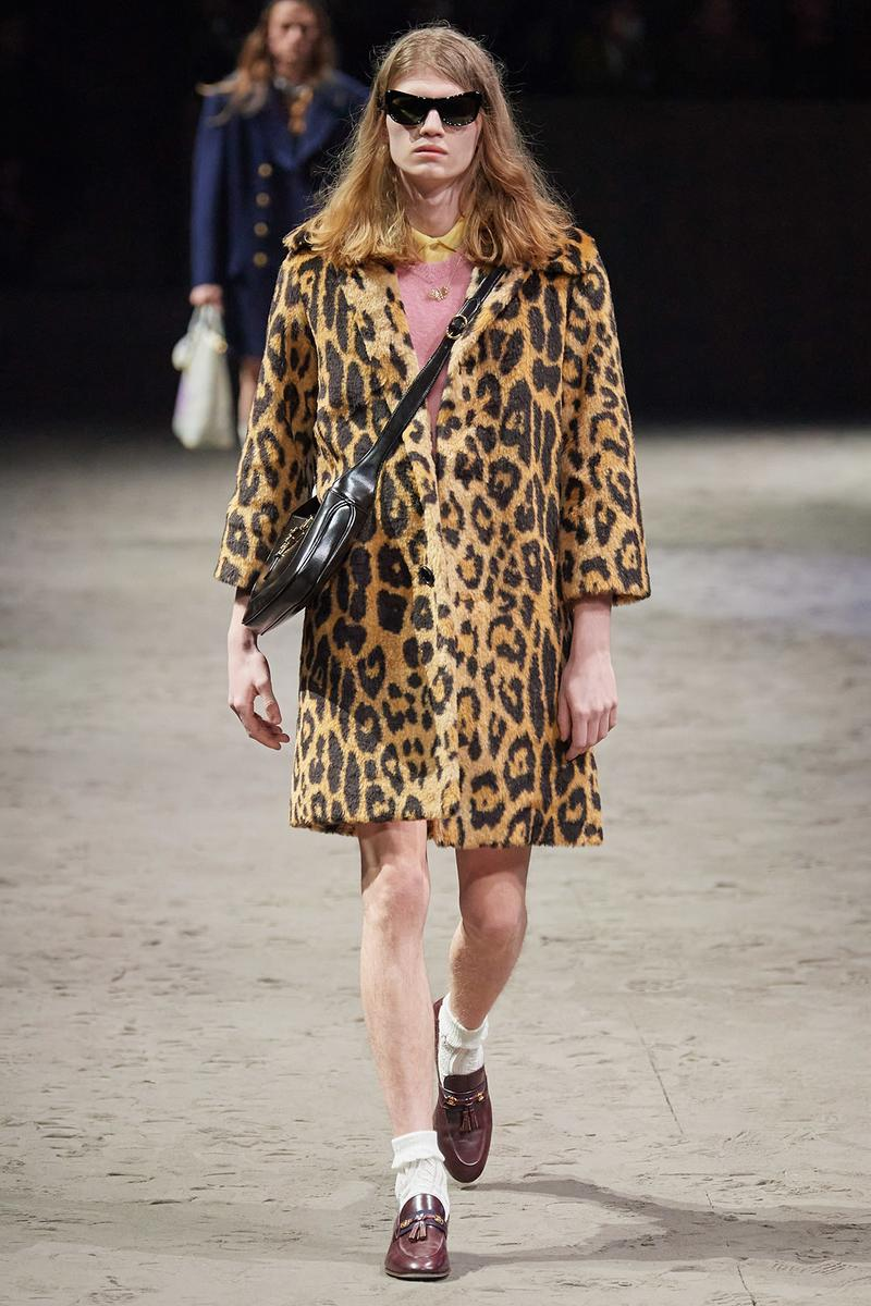 Gucci Fall/Winter 2020 Men's Collection Coat Leopard Cheetah