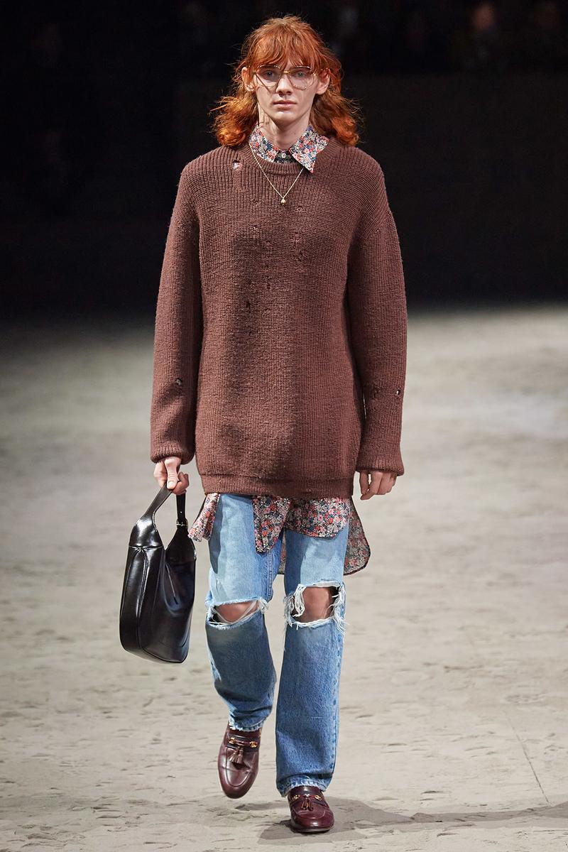 Gucci Fall/Winter 2020 Men's Collection Sweater Brown