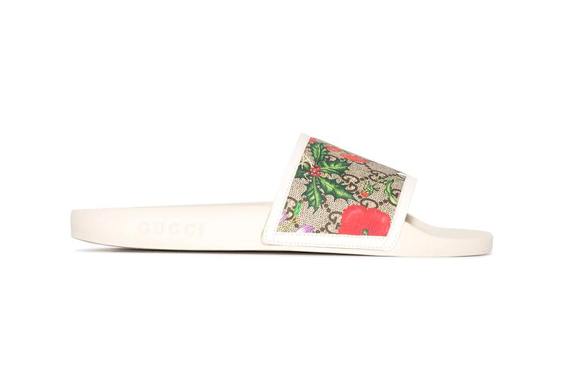 gucci gg floral print slides slippers