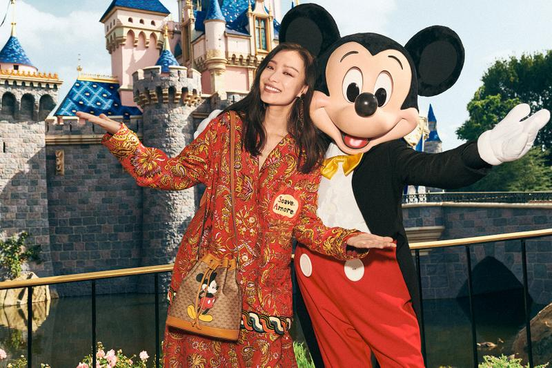 Gucci Mickey Mouse Chinese New Year Collection Campaign Monogram Bucket Bag