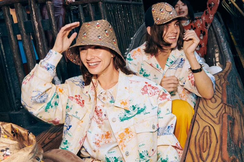 Gucci Mickey Mouse Chinese New Year Collection Campaign Monogram Bucket Hat Cap Jacket