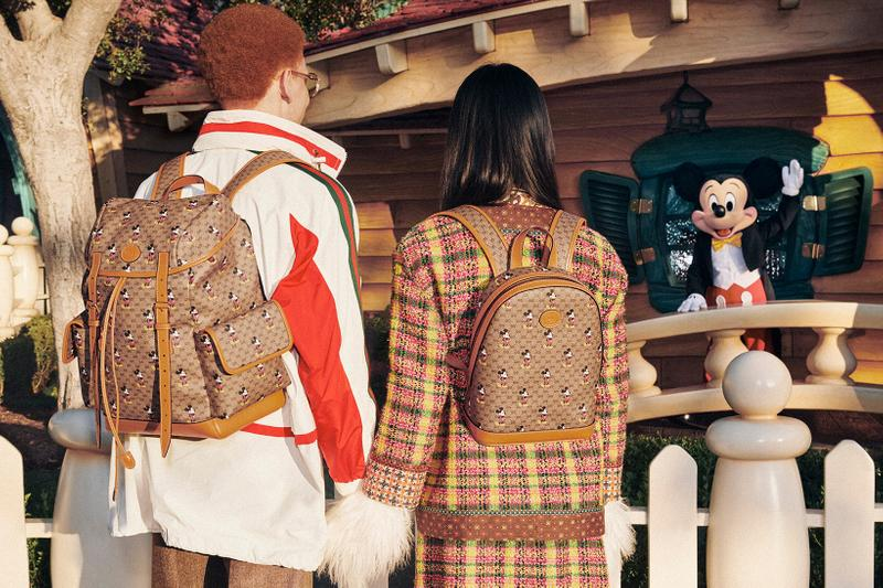 Gucci Mickey Mouse Chinese New Year Collection Campaign Monogram Backpack