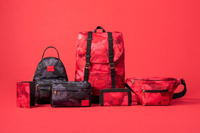 herschel lunar new year collection red black bags backpacks