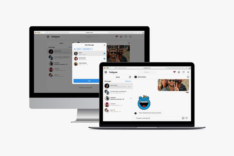 instagram direct message dms desktop web apps online internet facebook photoshop filters trial test