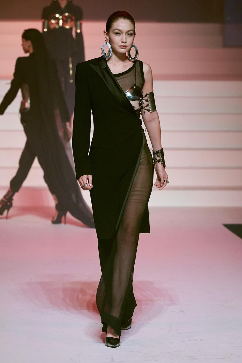 jean paul gaultier paris couture week spring summer collection karlie kloss gigi hadid