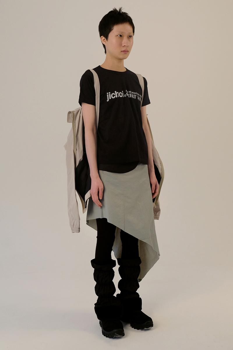jichoi fall winter collection lookbook korean streetwear track jackets wrap skirts