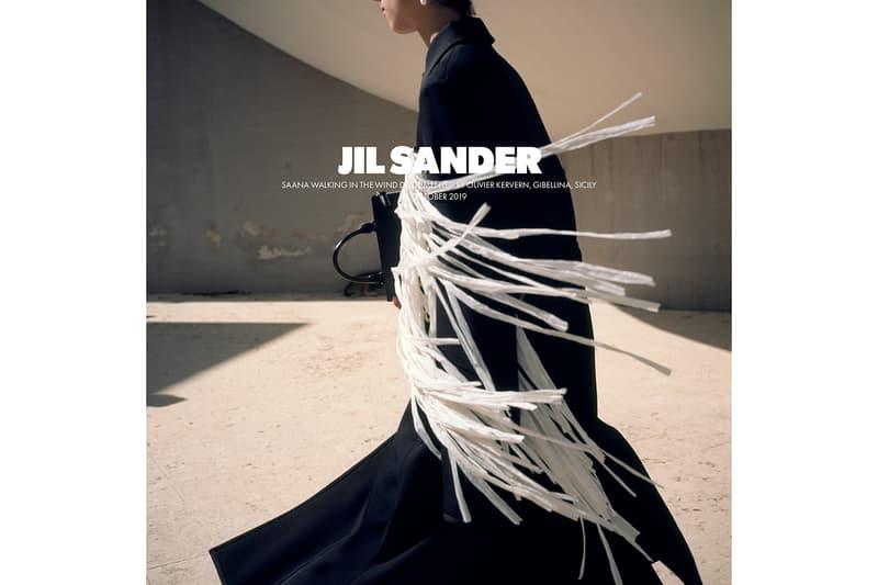 Jil Sander Spring/Summer 2020 Collection Campaign Fringe Coat