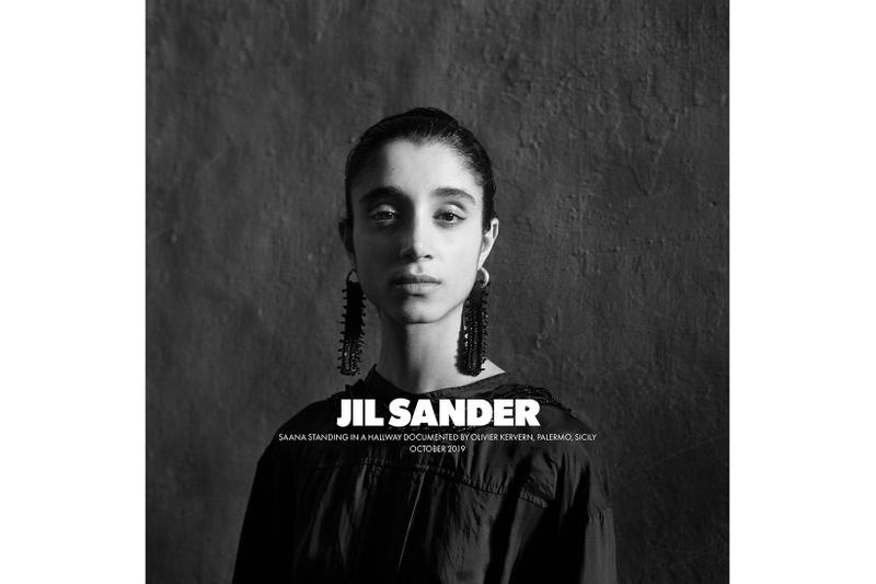 Jil Sander Spring/Summer 2020 Collection Campaign Earrings Dress Black