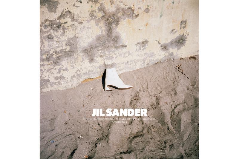 Jil Sander Spring/Summer 2020 Collection Campaign Ankle Boot White