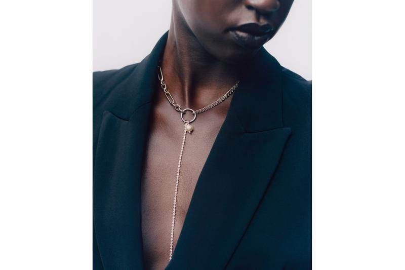 justine clenquet jewelry spring summer campaign earrings necklaces body chain