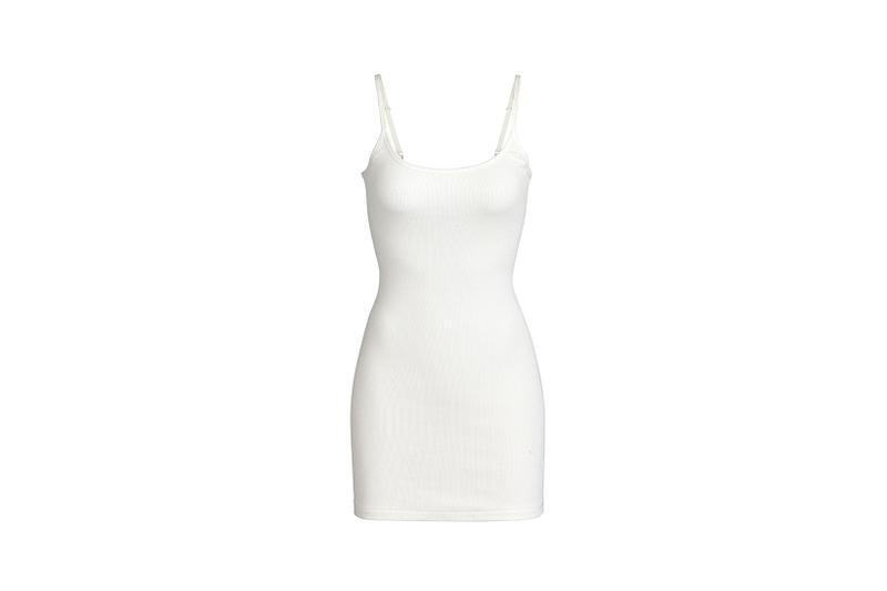 Kim Kardashian SKIMS Cotton Collection Slip Dress Bone