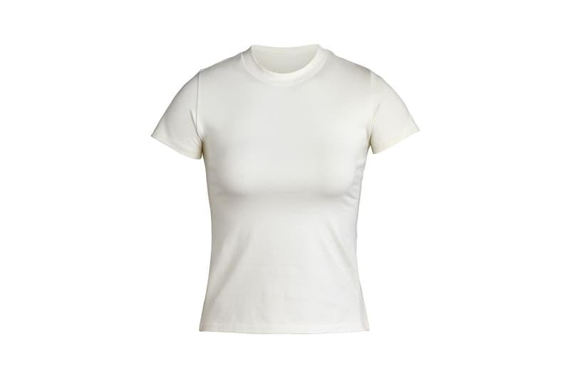 Kim Kardashian SKIMS Cotton Collection T-Shirt Bone