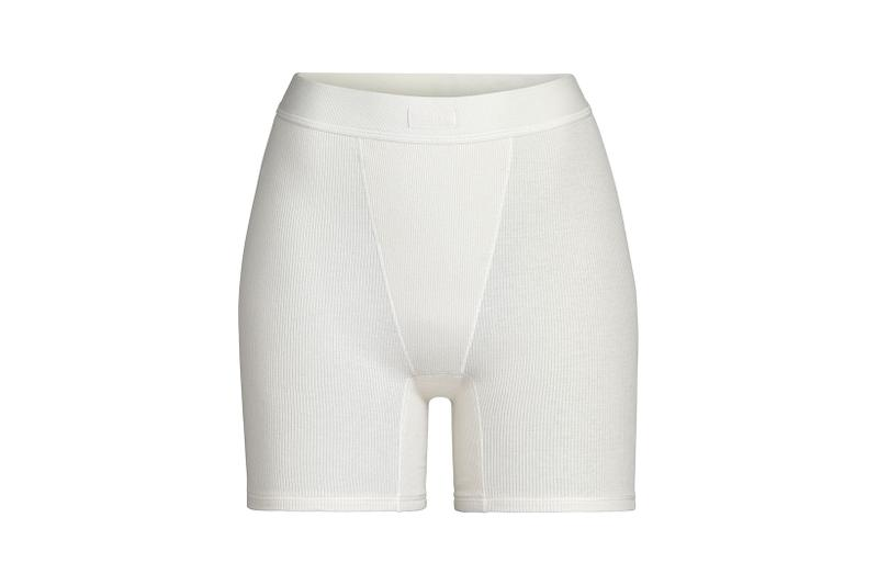 Kim Kardashian SKIMS Cotton Collection Shorts Bone