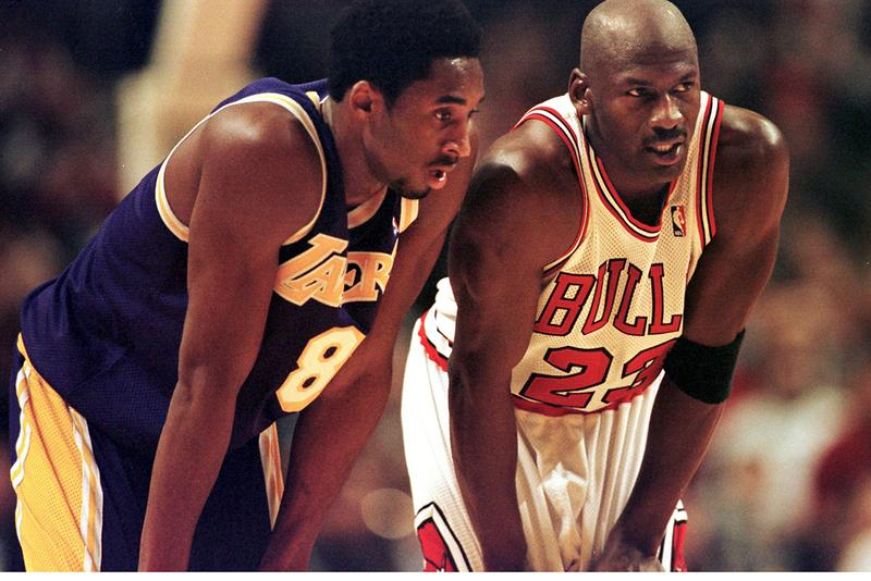 kobe bryant los angeles lakers guard michael jordan chicago bulls basketball players NBA