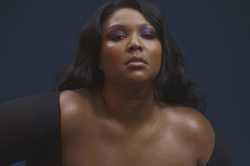 lizzo singer artist cuz i love you album purple eyeshadow makeup