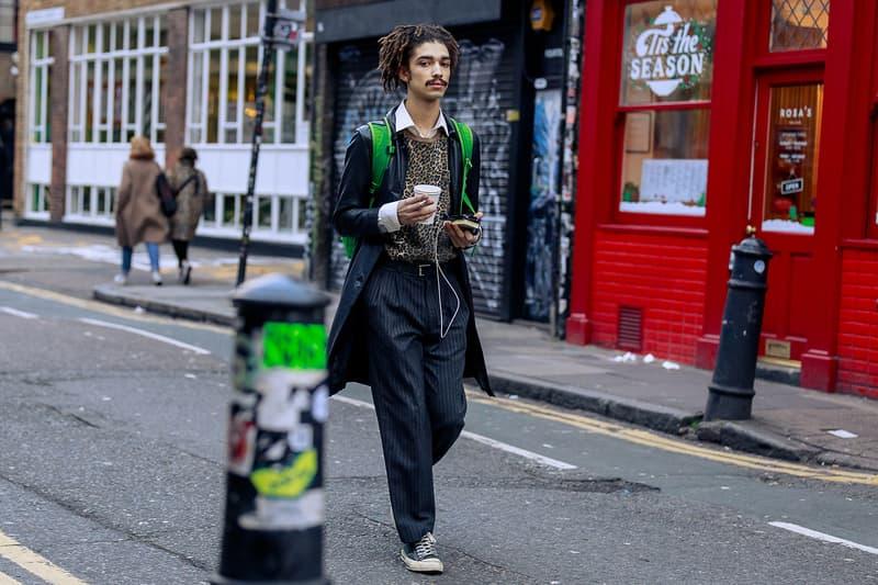 London Fashion Week Men's Fall/Winter 2020 Street Style Leopard Sweater