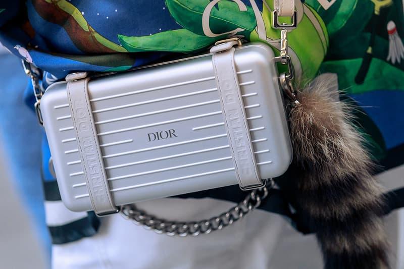 London Fashion Week Men's Fall/Winter 2020 Street Style Dior x Rimowa Personal Case