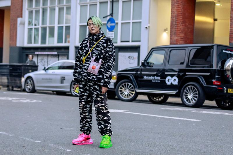 London Fashion Week Men's Fall/Winter 2020 Street Style Ashley Williams Sperm Print