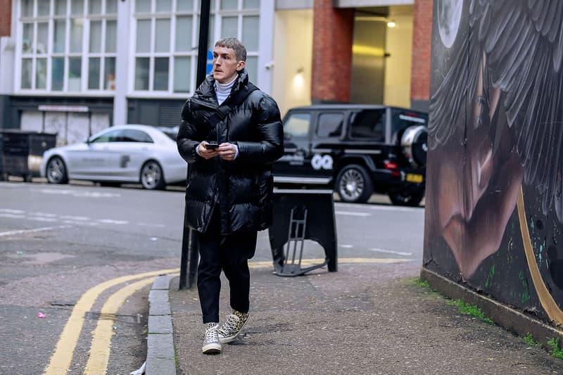 London Fashion Week Men's Fall/Winter 2020 Street Style Leopard Converse