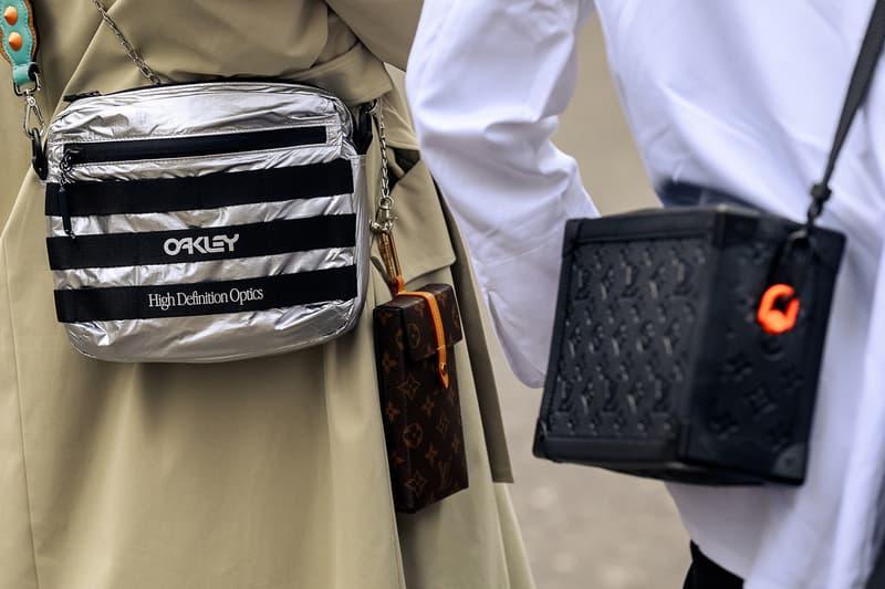 London Fashion Week Men's Fall/Winter 2020 Street Style Louis Vuitton Case