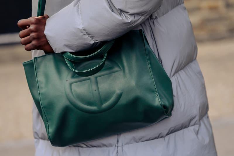 London Fashion Week Men's Fall/Winter 2020 Street Style Telfar Shopping Bag